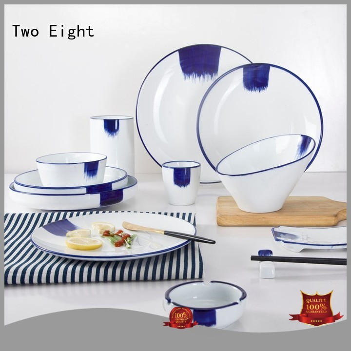 Two Eight Brand lines mixed 16 piece porcelain dinner set cream