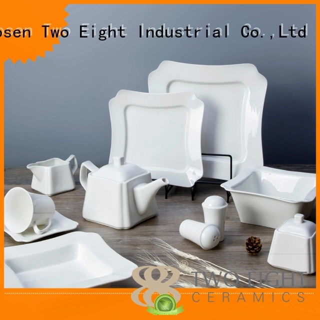 Two Eight Brand meng color white porcelain tableware stock supplier