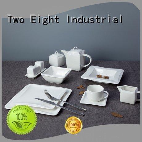 white porcelain tableware hotel open white dinner sets Two Eight Warranty