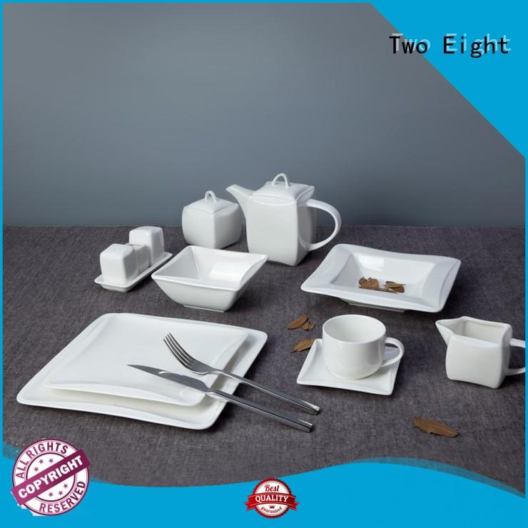 Two Eight Vietnamese restaurant style dinner plates directly sale for kitchen