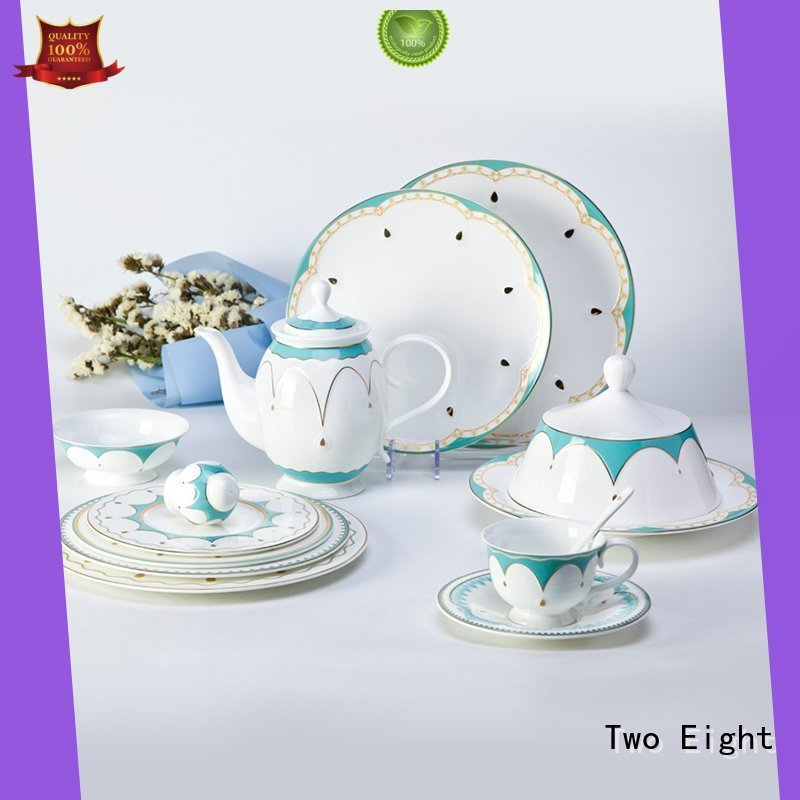 Two Eight Wholesale fine china tea sets manufacturers for hotel