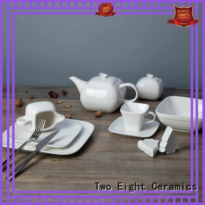 Two Eight white porcelain dinner set Supply for dinner