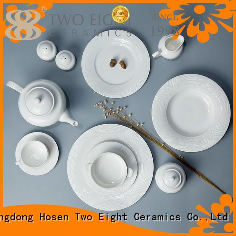 Two Eight stock high quality porcelain dinnerware directly sale for kitchen