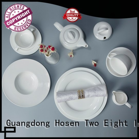 OEM white dinner sets italian irregular white porcelain tableware