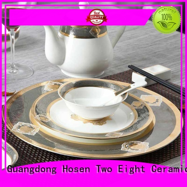 embossed best bone china manufacturer for restaurant Two Eight
