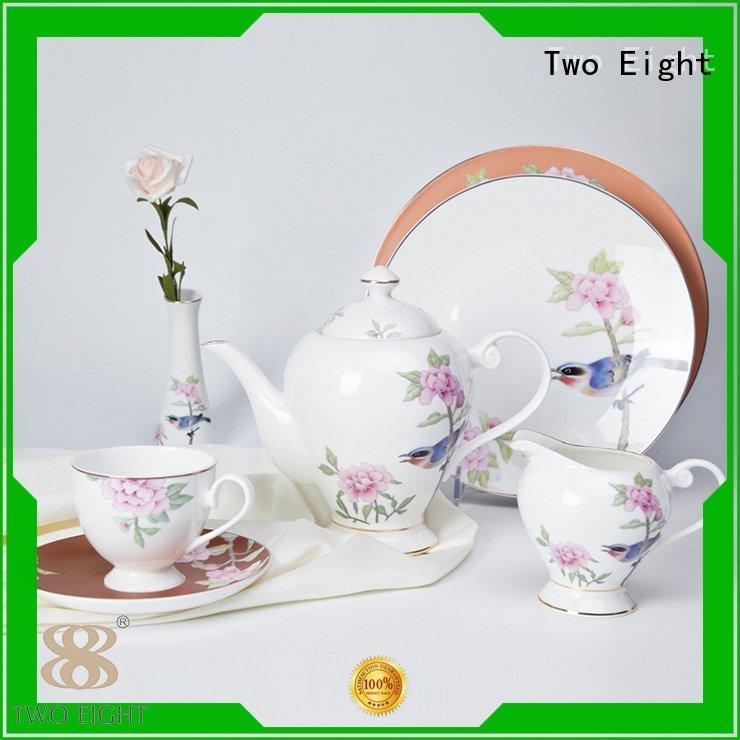 OEM fine white porcelain dinnerware golden princess royal fine china tea sets