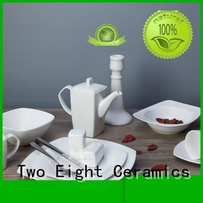 Two Eight smoothly cheap porcelain plates bulk for dinner