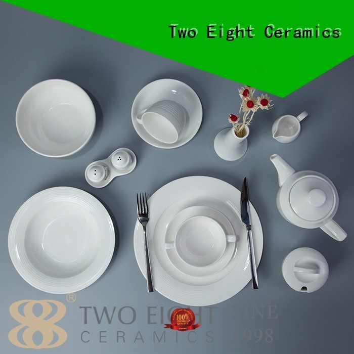 Two Eight Brand quan fang white porcelain tableware casual supplier