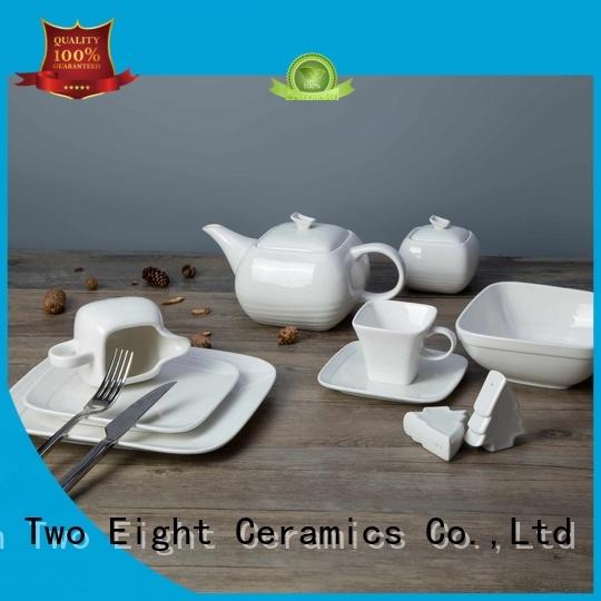 Two Eight irregular french white porcelain dinnerware series for hotel