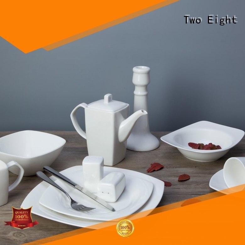 Two Eight glaze best restaurant dinnerware rim for restaurant