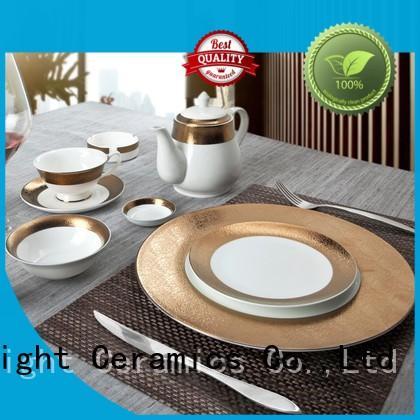Two Eight embossed fine porcelain dinnerware sets factory price for bistro