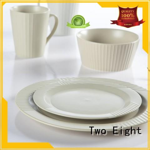 Two Eight classic high quality porcelain dinnerware customized for hotel