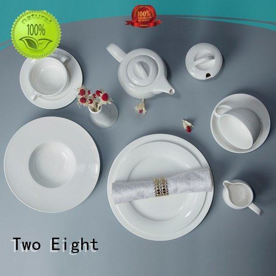 white porcelain tableware home white dinner sets Two Eight Brand