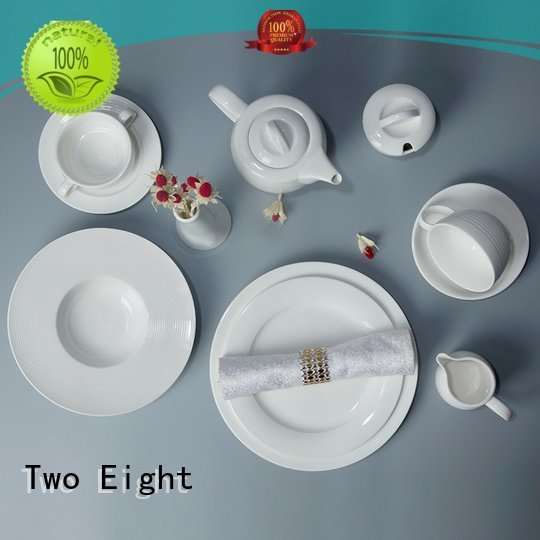 white porcelain tableware home white dinner sets Two Eight Brand