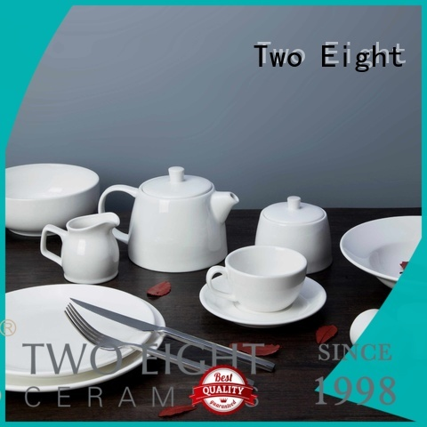 Two Eight white dinner sets manufacturers for restaurant
