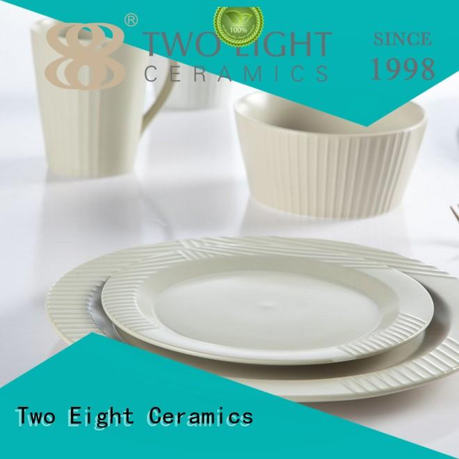 Two Eight tc13 porcelain dish set from China for bistro