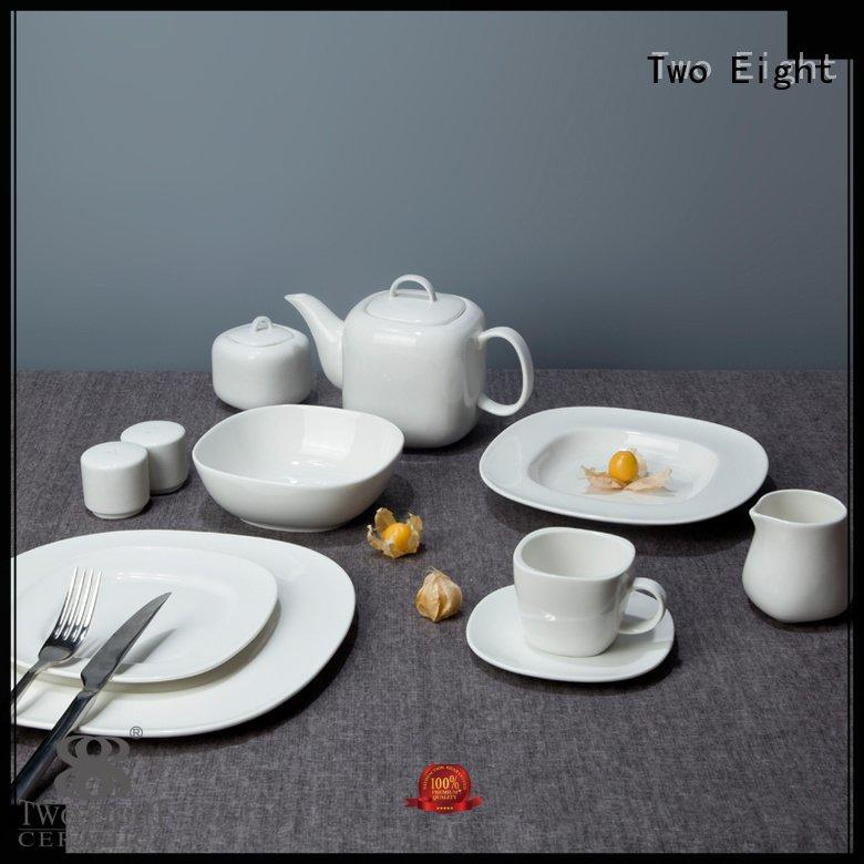 white porcelain tableware fang white dinner sets smoothly