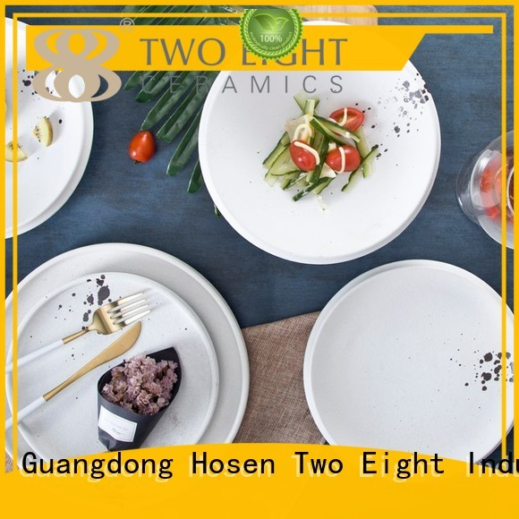 Two Eight Brand jiang round 16 piece porcelain dinner set lines