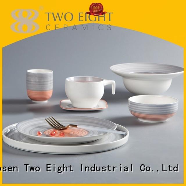 16 piece porcelain dinner set italian modern two eight ceramics mixed Two Eight Brand