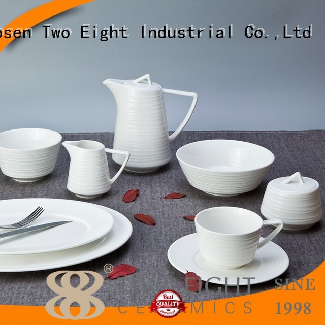 white porcelain tableware german vietnamese two eight ceramics quan Two Eight Brand