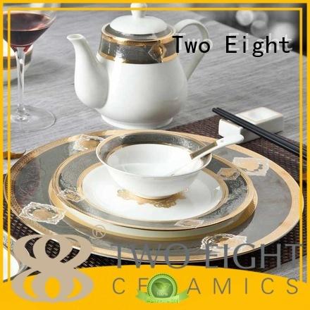 fine white porcelain dinnerware rose plate fine Two Eight Brand