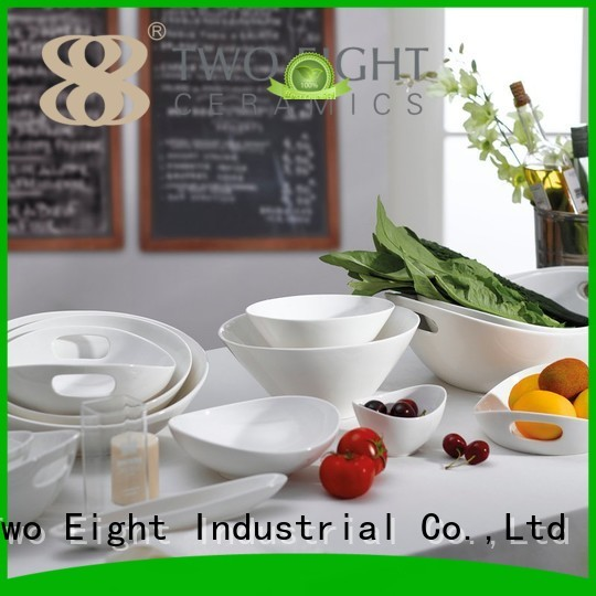hotel casual bone china embossed Two Eight Brand