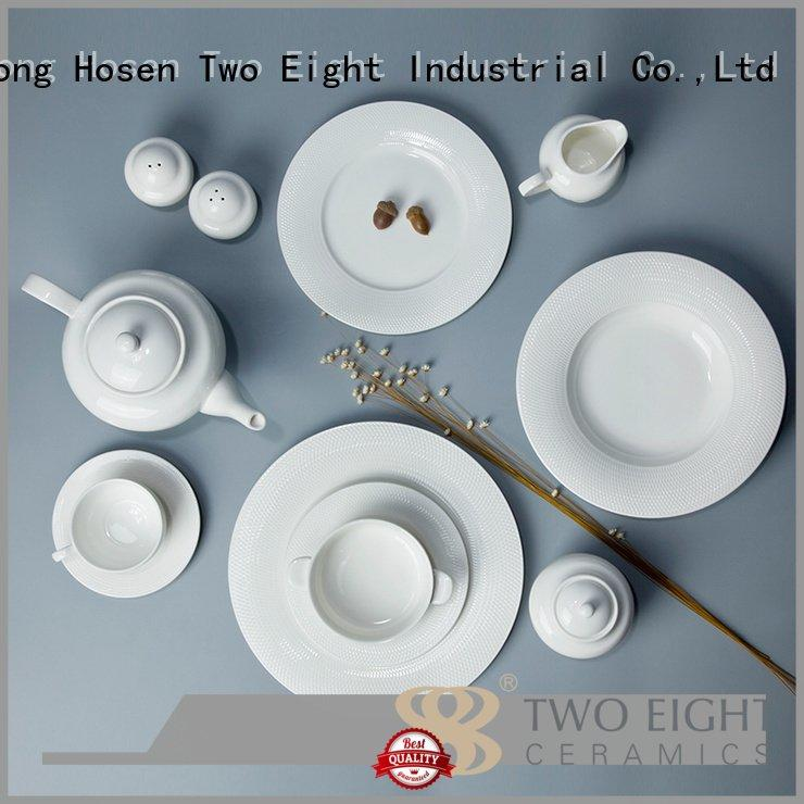 dish white porcelain tableware german Two Eight company