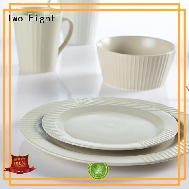 16 piece porcelain dinner set ping glaze white Two Eight Brand