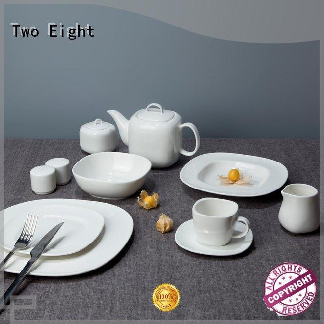 Two Eight white porcelain tableware dinner dinnerware contemporary