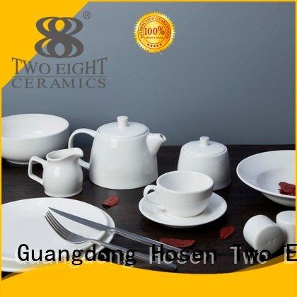 white porcelain tableware huan open white dinner sets Two Eight Brand