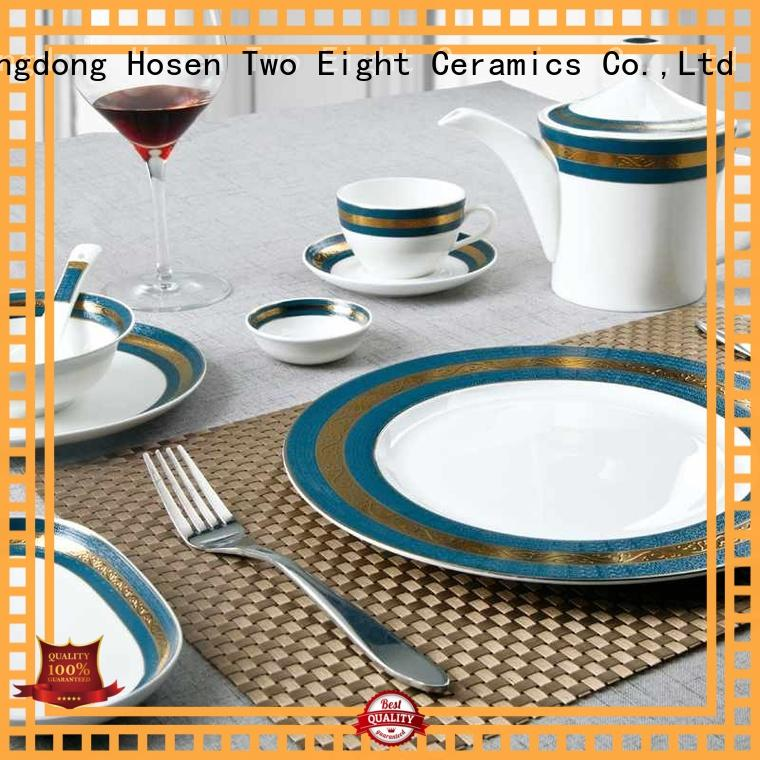 Two Eight tableware fine bone china tea set supplier for hotel