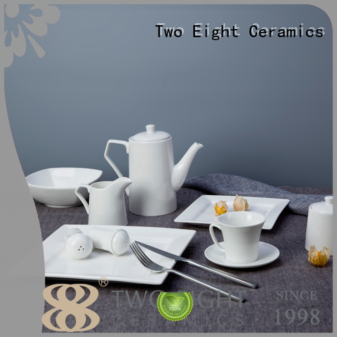 Wholesale style white porcelain tableware Two Eight Brand