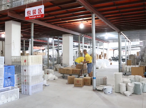 Ceramic Factory: Packing and Shipping