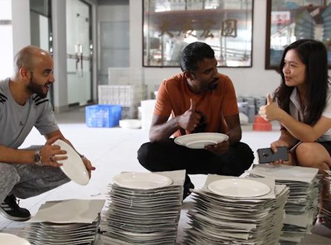 Visiting Two Eight Ceramics Factory-Saudi Arabia guests