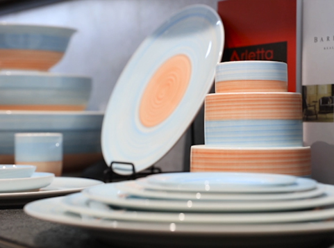 Colorful Porcelain Dinnerware Set Show-TC04\TC05 Series From Hosen Two Eight Ceramics