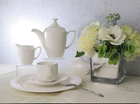 White Ceramic Dinnerware Set -TW01