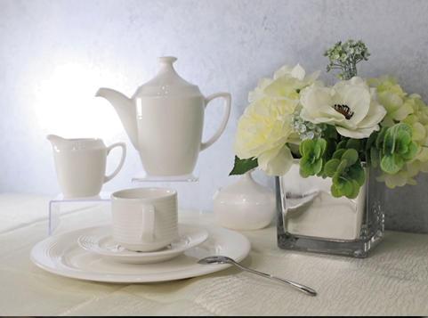 White Ceramic Dinnerware Set -TW01