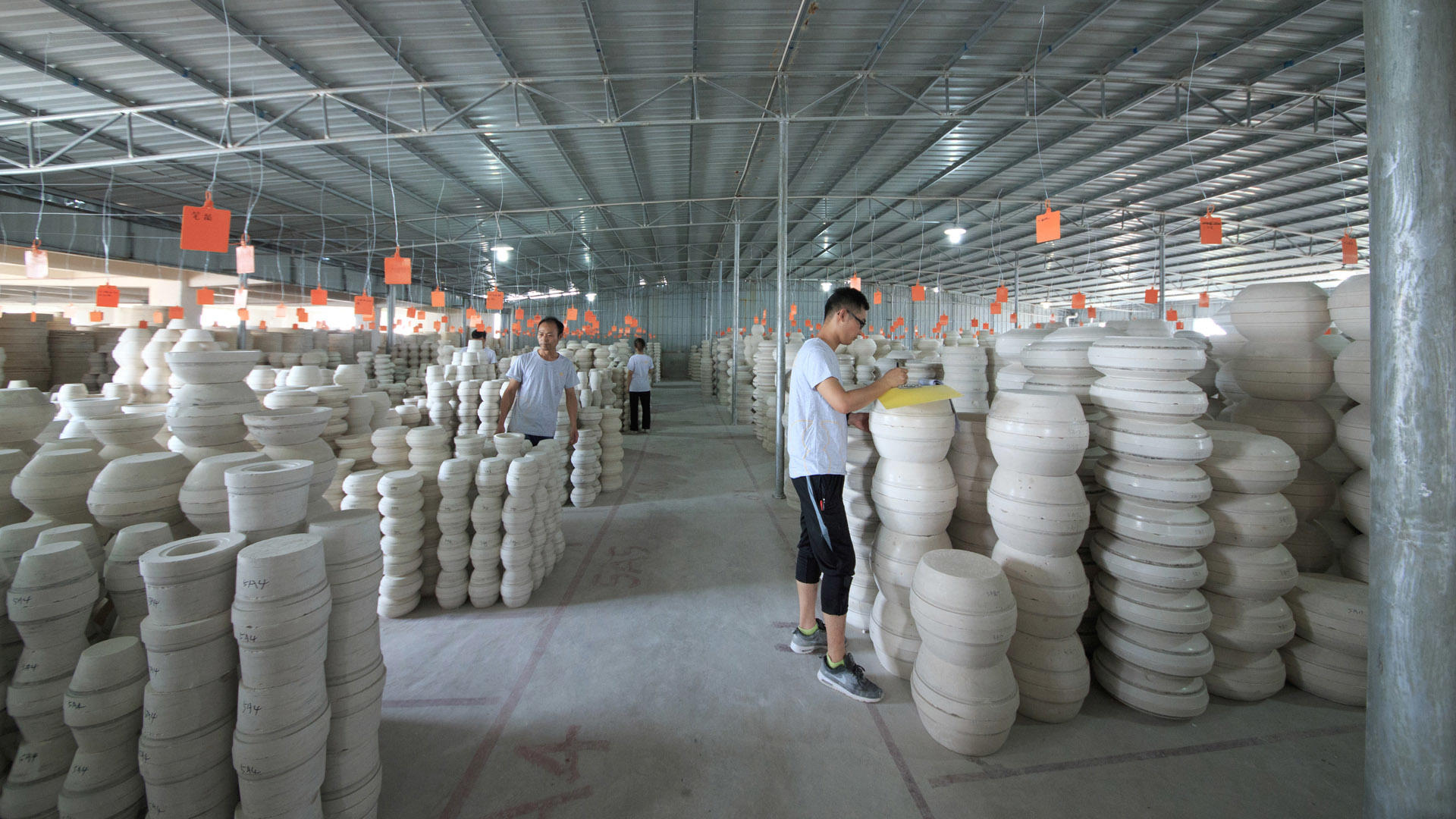 The second floor of the two eight Ceramics Factory - Molded Warehouse