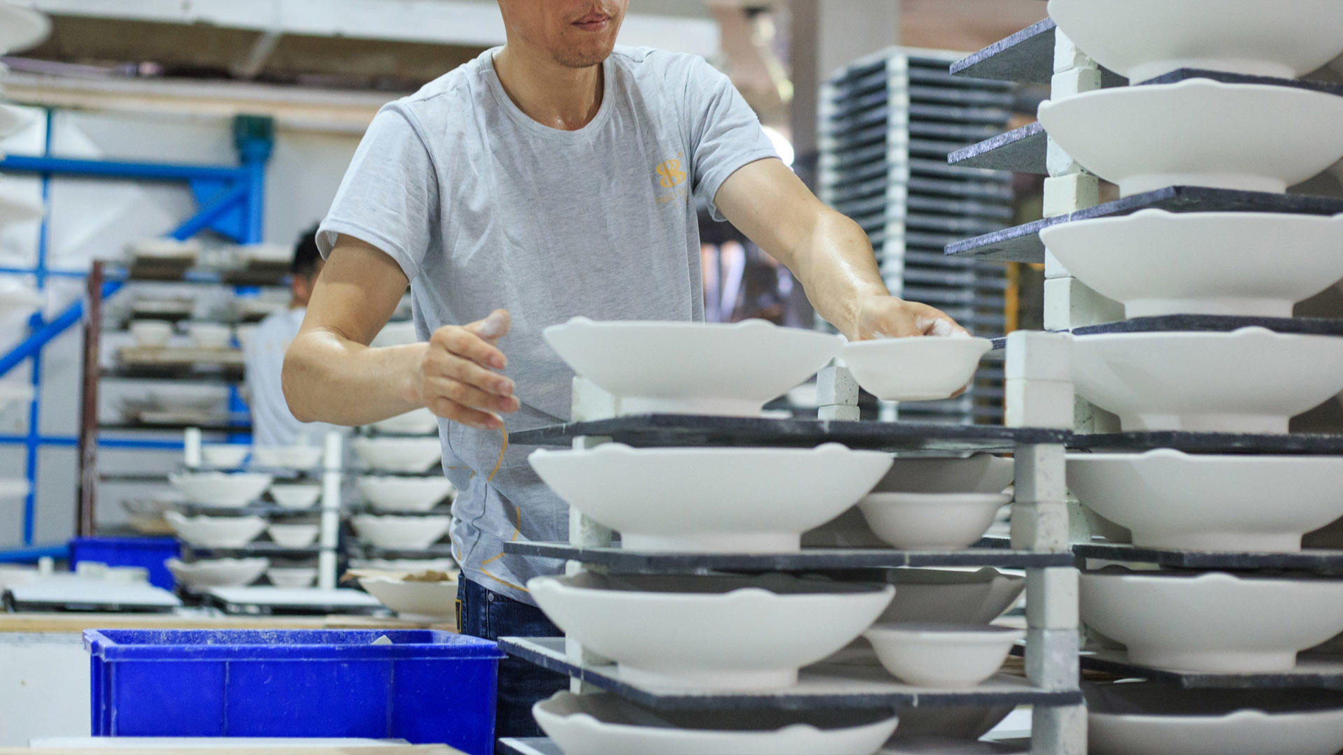 Ceramic tableware production steps