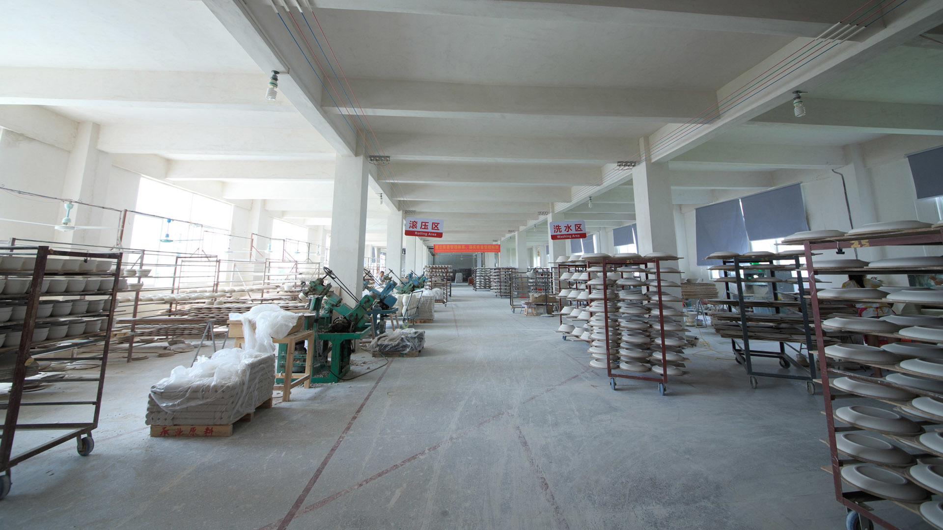 The second floor of the Two Eight Ceramics Factory - Rolling Workshop
