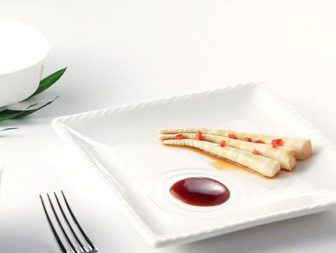 Hotel restaurant White ceramic dinnerware set-TW39