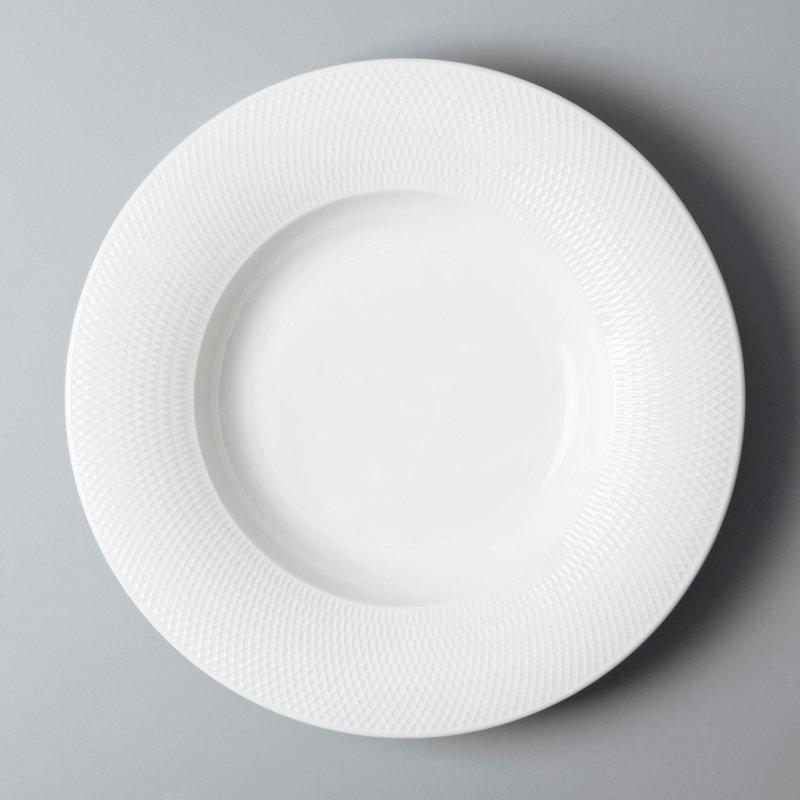 rim french white porcelain dinnerware french style for bistro Two Eight