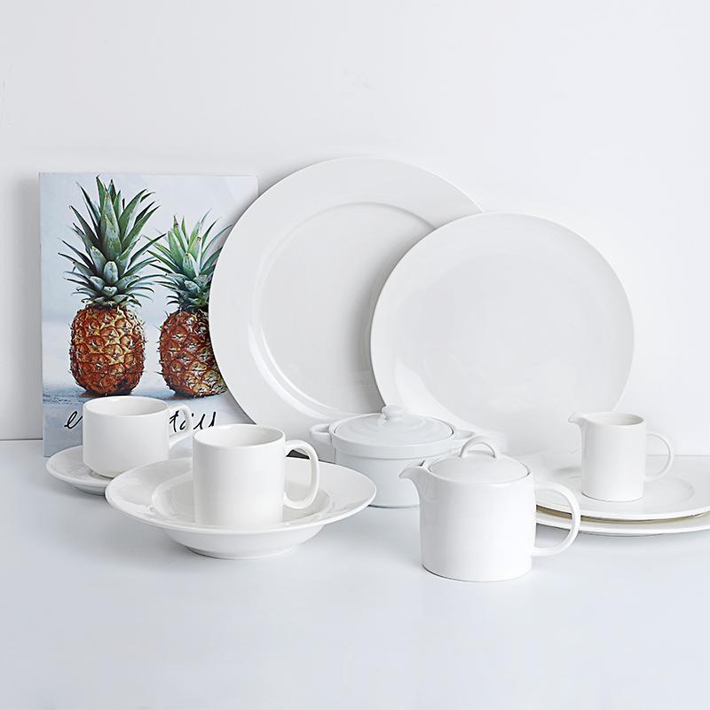 White Color Porcelain Dinnerware Sets - TW01