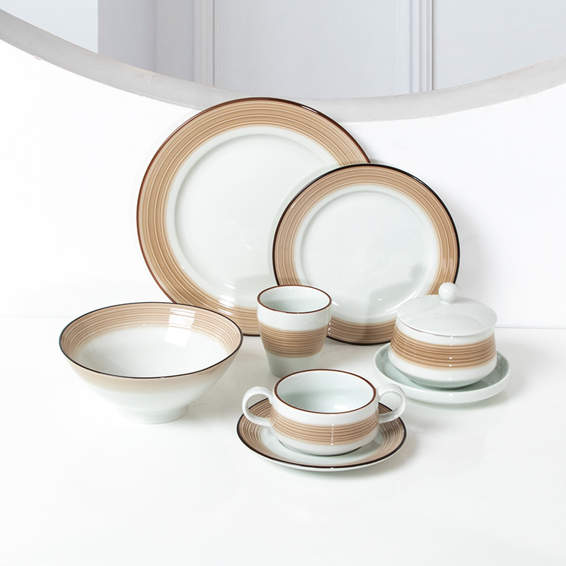 Coral Jade Collection - 2021 Color Glazed Dinnerware for Hotel