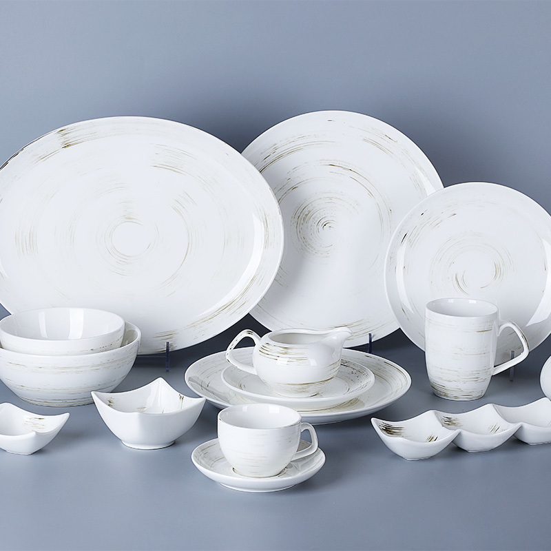 Time Imprint Collection (White)- 2021 Color Glazed Dinnerware for Hotel, Restaurant and Cafe
