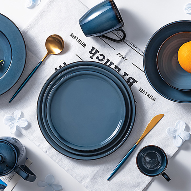 Lake Blue Collection - Hot Sale Color Glazed Dinnerware for Restaurant