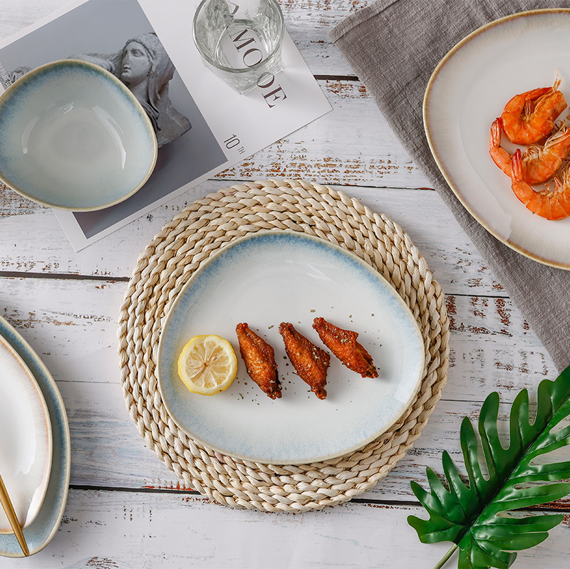 Misty Blue Collection - 2021 Color Glazed Dinnerware for Hotel