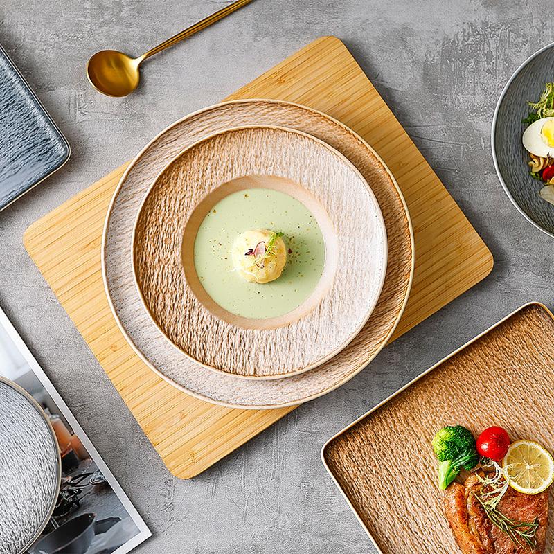 Stone Grain Collection - 2021 New Color Glazed Dinnerware for Restaurant