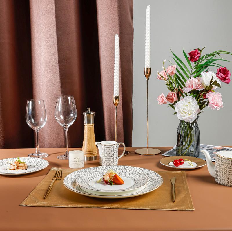 Royal Luxury Golden Dinnerware Collection - 2021 Bone China Dinnerware for Restaurant