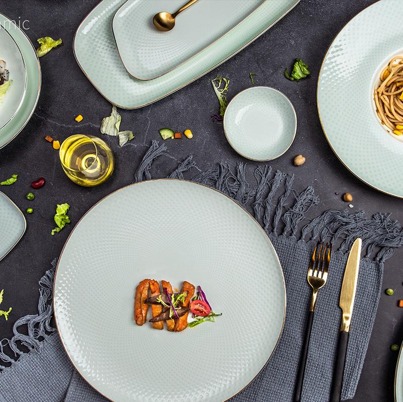 Kaleidoscope Collection (Jade Color) - 2021 Luxury Dinnerware for Hotel Restaurant